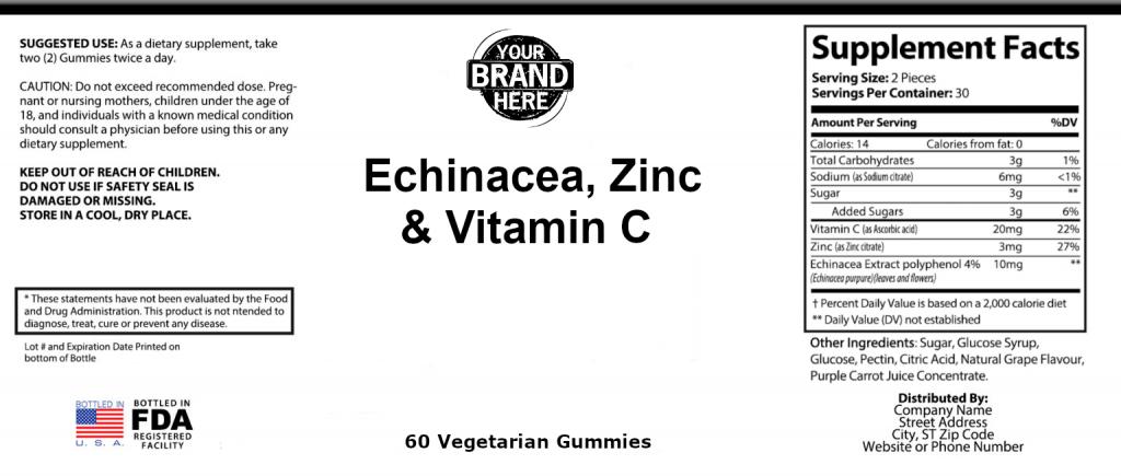Echinacea Zinc Vitamin C Gummies