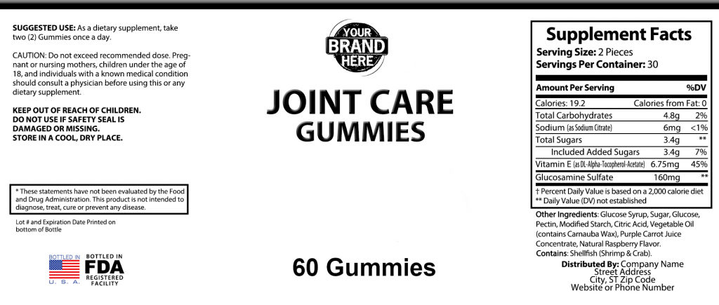 private-label-Joint-Care-Vegetarian-Gummies