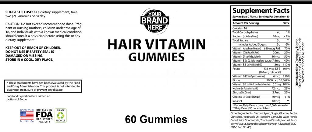 Pricate-Label-Hair-Vitamin-Gummies